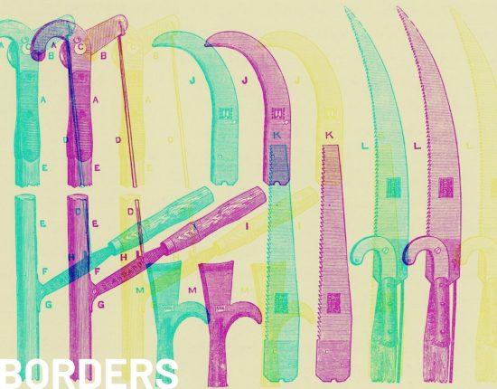 vintage illustration of fruit grower's tools