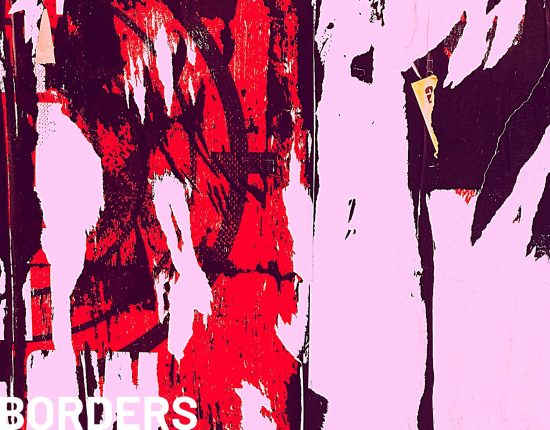 abstract painting red on white background