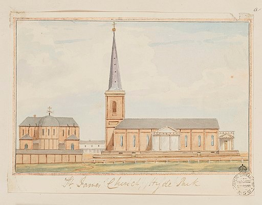 Image of postcard of church